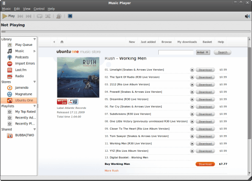Ubuntu One Music Store has arrived