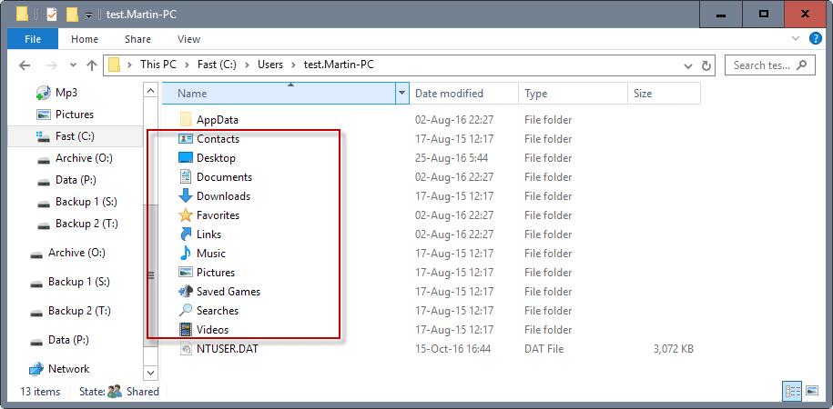 windows special folders
