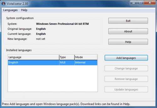 Install Windows 7 Language Packs In All Editions