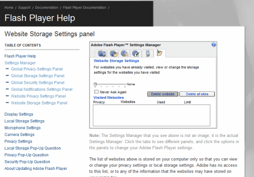How To Open The Adobe Flash Player Settings In Google