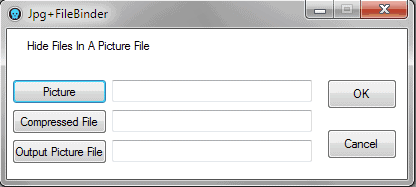 Hide Files In Pictures With JPG FileBinder