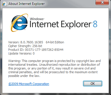 internet explorer update