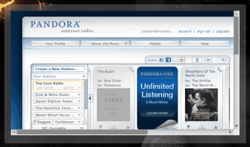 Add a Pandora Screenlet to your Linux desktop