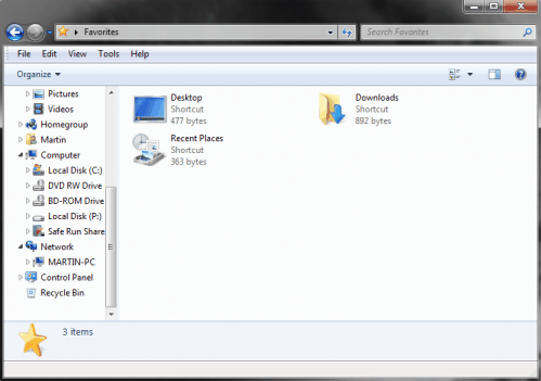 Display Recycle Bin In Windows Explorer [Windows 7]