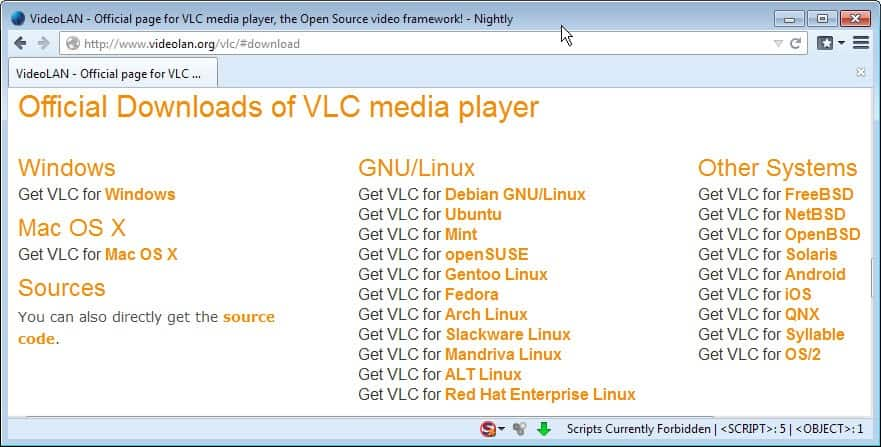 vlc media player downloads