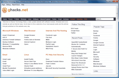 Internet Explorer 9 Platform Preview 3 Download Available