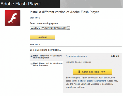 adobe flash player 101 download