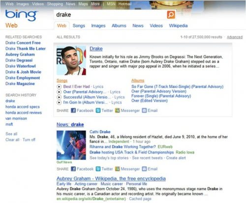 bing new design