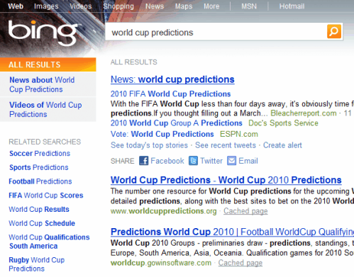 bing related searches