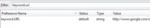firefox default search
