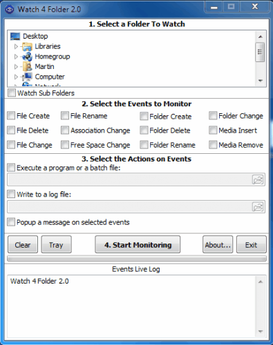 Folder Monitoring Made Easy With Portable App Watch 4 Folder