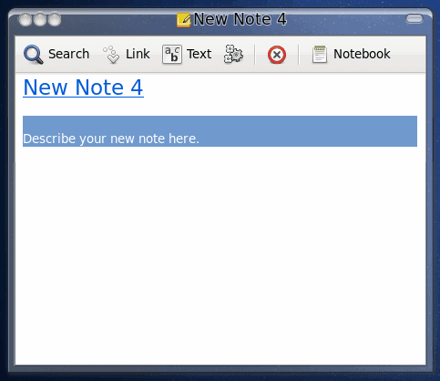 Gnote: Fedora 13 note tool