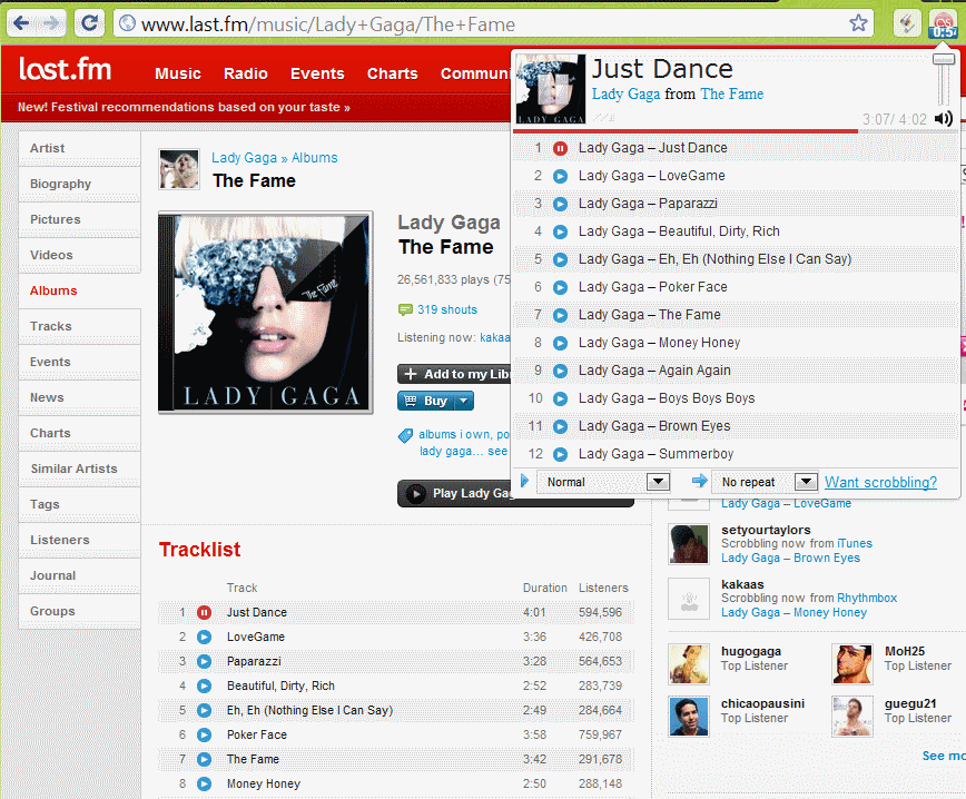 last fm free music player