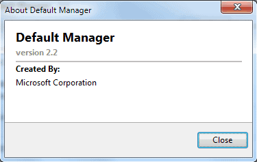 microsoft default manager 22