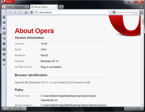 Opera 10.60 Release Candidate Released