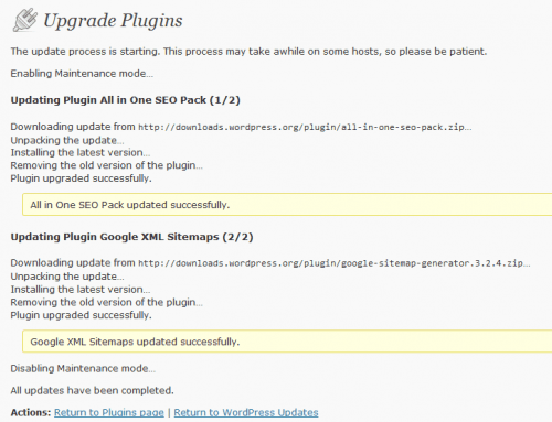 upgrade plugins
