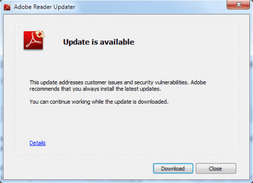 adobe offering insecure adobe reader version for download
