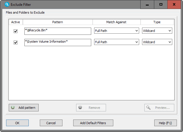 file search exclude