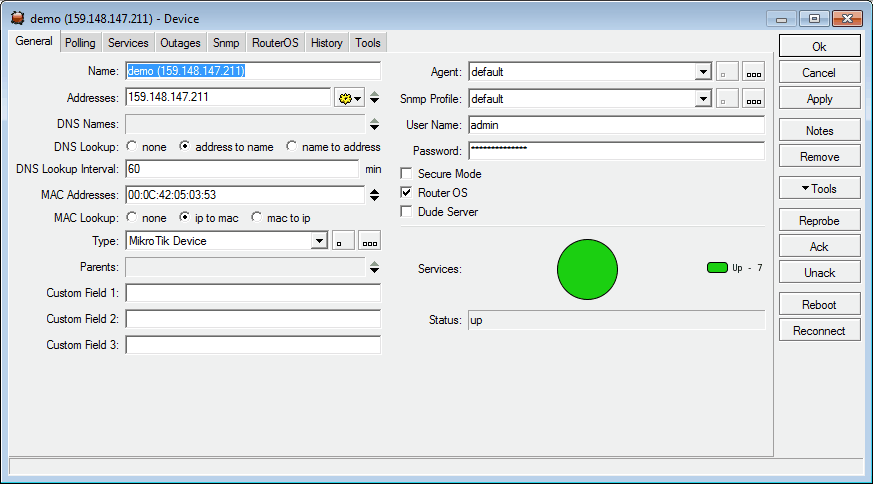 network device view