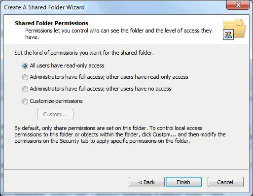 shared folder permissions