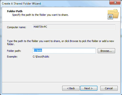Create Shared Folders Easily With Shared Folder Wizard