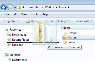 windows explorer new folder