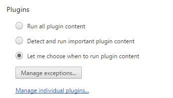 chrome plugin content