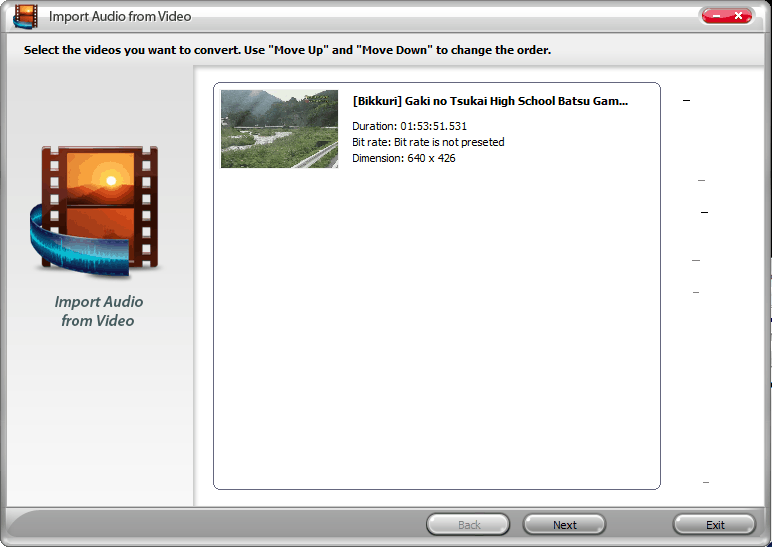 convert video to audio