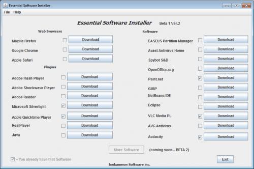 essential software installer