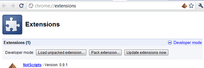 google chrome extensions auto update