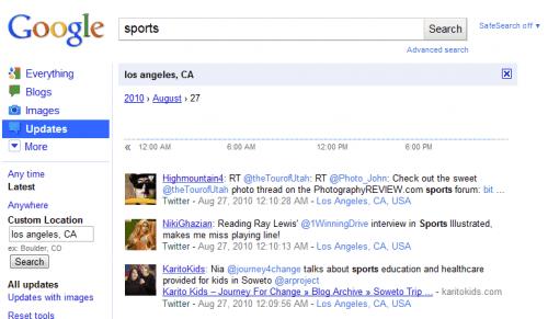 google realtime search