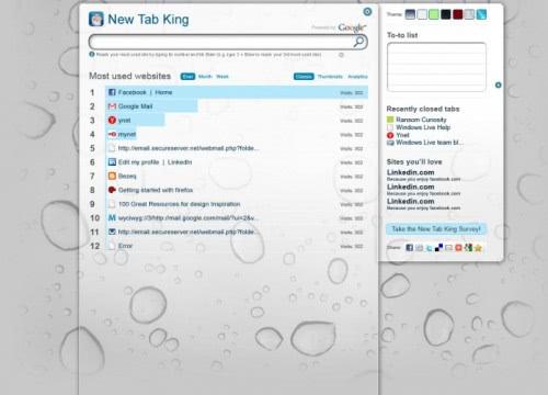 new tab king