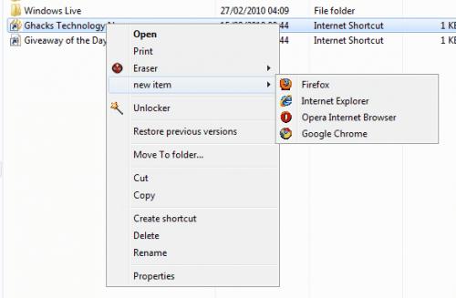 windows explorer right click