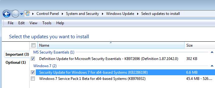 windows security update