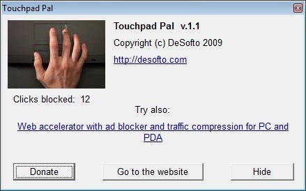 disable laptop touchpad
