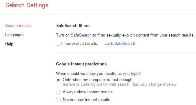 google instant predictions
