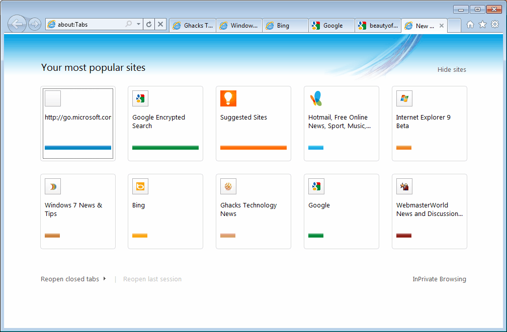 how to delete recently closed tab history