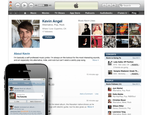 itunes ping friends