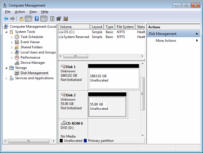 windows 7 hard drive
