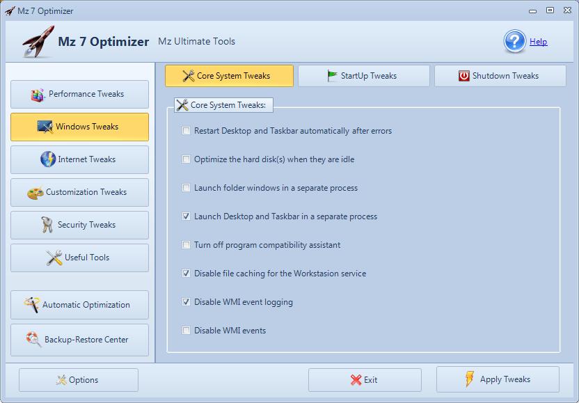 core system tweaks