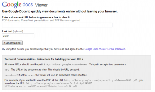 Google Docs Viewer View Documents Online