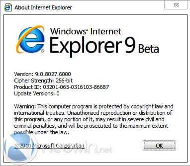 internet explorer 9 beta