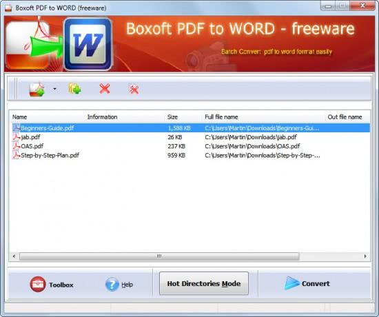 batch convert pdf to word