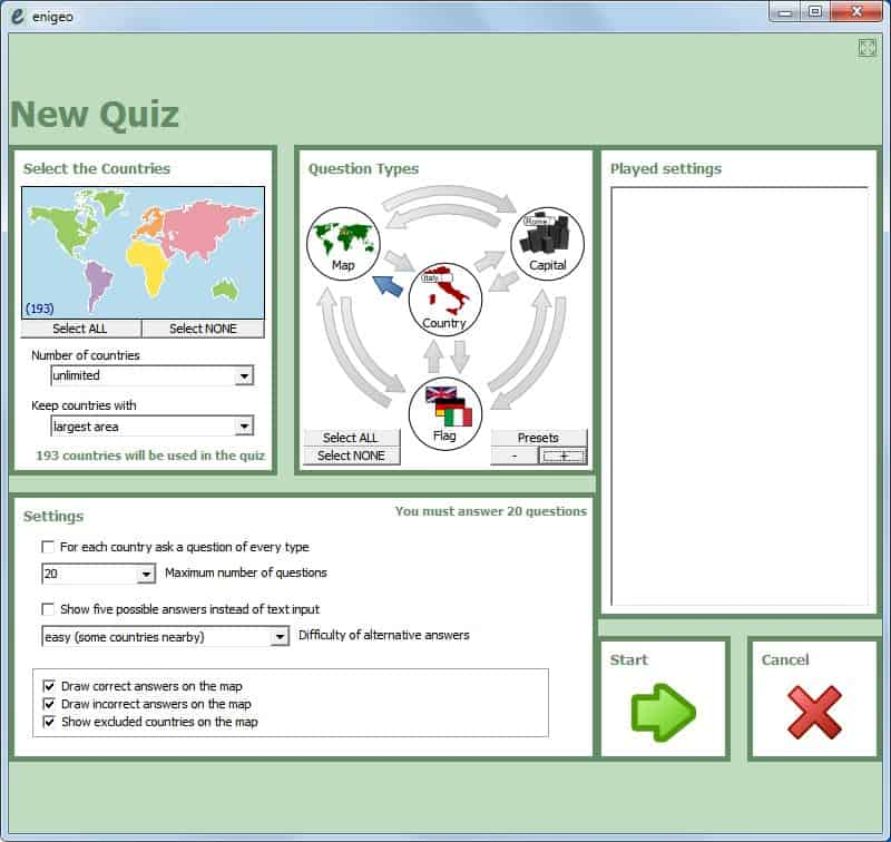Geography quiz enigeo teaches about countries capitals and flags you could for instance limit the quiz to europe asia or another continent to concentrate on this particular topic countries capitals flags quiz gumiabroncs Image collections