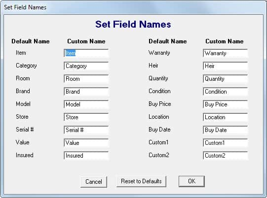 home inventory control software