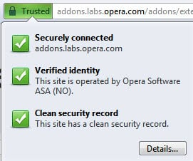 opera secure connection