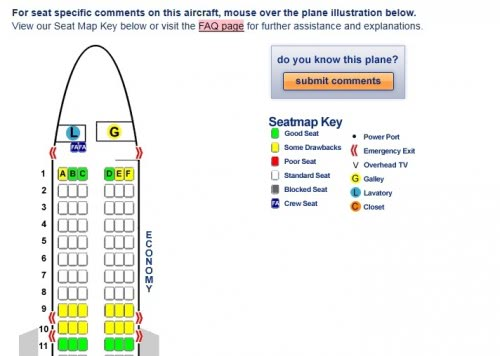 best seat on a plane for view seatguru find the best airplane seats ahead of time 536