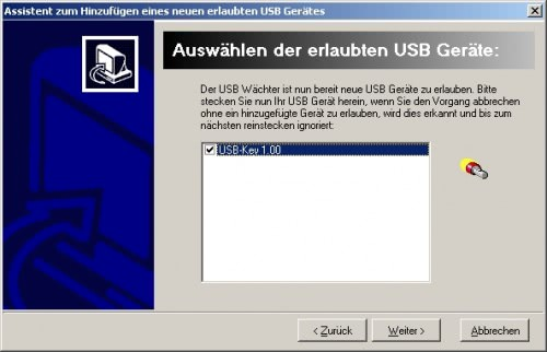 whitelist usb devices