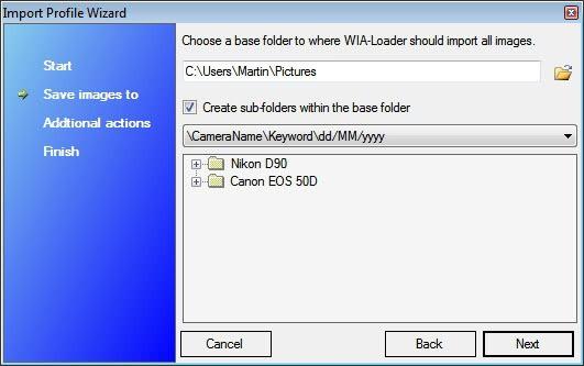 wia-loader photo import profile