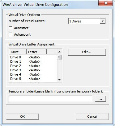 winarchiver virtual drive